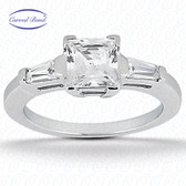 As Shown : Princess Center Diamond is Approximately 0.75 tcw (4.5mm x 4.5mm)
