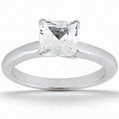 As Shown : Asscher Cut Diamond Measures 5.5 x 5.5mm (Approximately 1.00 tcw)