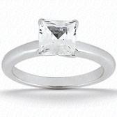 As Shown : Asscher Cut Diamond Measures 5.5 x 5.5mm (Approximately 1.00 tcw)