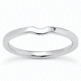 14K White Gold Plain Fitted Wedding Band- ENS2156-B