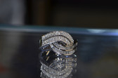 CR - 1.00 TCW Diamond 14K White Gold Embrace Ring / Wedding Band - 362