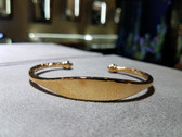 Unisex Gold Filled Bangle Cuff Bracelet With Blank ID Plate