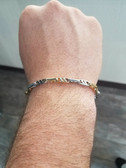Men's 14K Two Tone White and Yellow Gold Bracelet