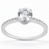 0.34 Diamond tcw on Ring Setting - Main Stone not included.