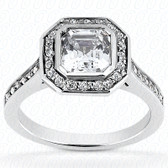 0.36 Diamond tcw on Ring Setting - Main Stone Not Included