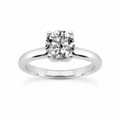 As Shown : Round Center Diamond is Approximately 1.00 tcw (MAIN STONE NOT INCLUDED)