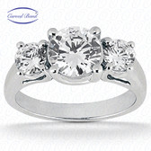 0.30 tcw Diamond  on Ring Setting - Center Main Stone Not Included