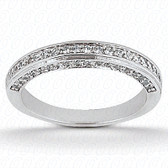 0.56 tcw Diamond on Wedding Band Setting