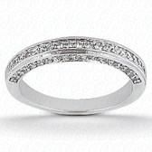 0.56 tcw Diamond on Wedding Band Setting