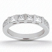 0.68 tcw Diamond on Wedding Band Setting