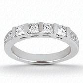 0.68 tcw Diamond on Wedding Band Setting