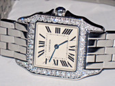 Cartier Santos Demoiselle Midsize Diamonds