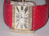 Womens Cartier Divan XL 18K Solid Gold Diamond Watch