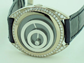 Womens Chopard Happy Spirit 18K Solid Gold Diamond Watch
