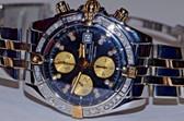 Breitling Chronomat Evolution 18K Gold Automatic Diamond Watch