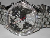 Mens Jacob & Co JC Five Time Zone World is Yours Diamond Watch