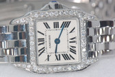 Womens Cartier Santos Demoissele Diamond Watch