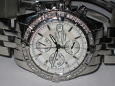Mens Breitling Chronomat Evolution Mother of Pearl Diamond Watch
