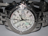 Mens Breitling Chronomat Mother Of Pearl Diamond Dial Watch
