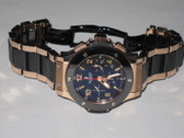 Mens Hublot Big Bang Chronograph 18K Solid Rose Gold - Ceramic Bracelet