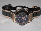 Mens Hublot Big Bang Chronograph 18K Solid Rose Gold - Ceramic Bracelet