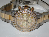 Mens Rolex Daytona 18K Gold - Steel Two Tone Diamond Watch