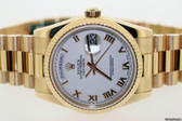 Mens Rolex Day-Date President 18k Solid Yellow Gold Watch