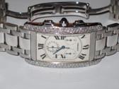 Womens Cartier Tank Americaine XL 18K Gold Watch