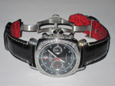 Mens Automatic Panerai Ferrari Chronograph Diamond Watch
