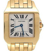 Womens Cartier 18K Solid Gold Santos Demoiselle