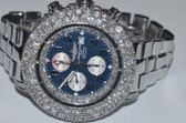 Mens Breitling Super Avenger Watch With Large Diamond Bezel