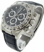 Mens Rolex 18k White Gold Daytona Watch