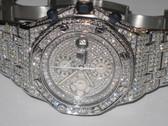 Mens Audemars Piguet Royal Oak Offshore Diamond Watch with Pavé Diamond Dial