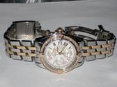 Mens Breitling Chronomat Evolution 18K Rose Gold Diamond Watch