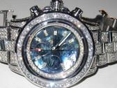 Mens Breitling Super Avenger Diamond Watch - MBRT45