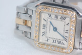 Womens Cartier Panthère 18K Gold Diamond Watch - WCRT14