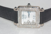 Womens Chopard Happy Sport 18K Gold Diamond Watch - WCHP15
