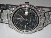 Mens Rolex Datejust II Oyster Perpetual Diamond Watch - MRLX09