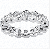 Women's 14K Diamond Eternity Wedding Bands - EWB263