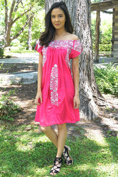 """Lirio"" off- the-shoulder Mexican Dress"