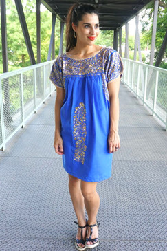 """""""Cielito Lindo"""" Mexican dress with Sleeves"""