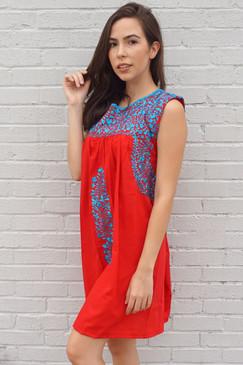 """Lori Rojo"" Mexican Dress"