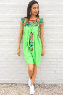 """Guanábana"" Mexican Dress"