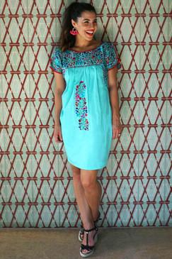 """""""Concha Del Mar"""" Mexican Dress"""