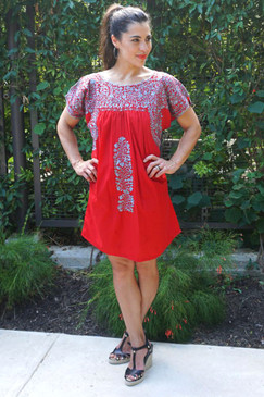 """""""Granada"""" Mexican Dress with Sleeves"""