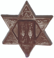 Chocolate Star Of David Favors