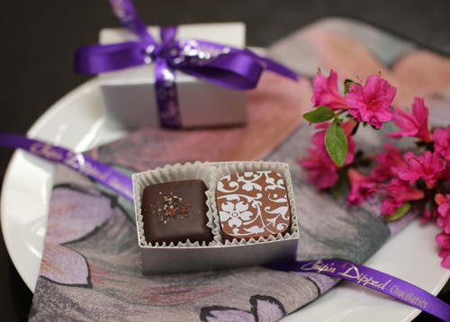 2 Piece Wedding Favor Truffles Chipn Dipped Chocolatier