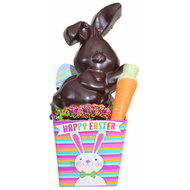 Flop-Eared Bunny Basket - Dark