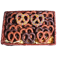 Chocolate Covered Pretzel Platter