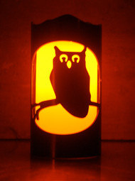Halloween Owl - Metal Candle Holder Luminary